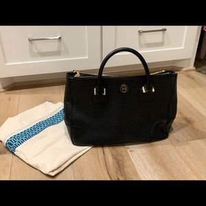 Tory Burch Lg Robinson Perforated Double Zip Tote